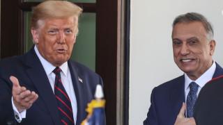 Тръмп обсъжда противодействие на иранската агресия с премиера на Ирак