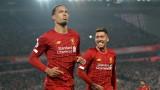 """Ливърпул допуска """"по-малко от гол"""" на мач, без Върджил ван Дайк в състава си"""