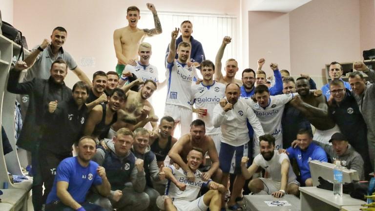 Динамо (Брест) записа първа победа в първенството на Беларус. Шампионите