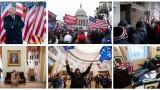 Пет видеоклипа от атаката на Капитолия, излъчени на процеса срещу Тръмп