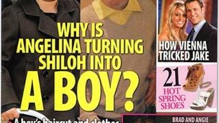 Дъщерята на Джоли и Пит се облича като момче