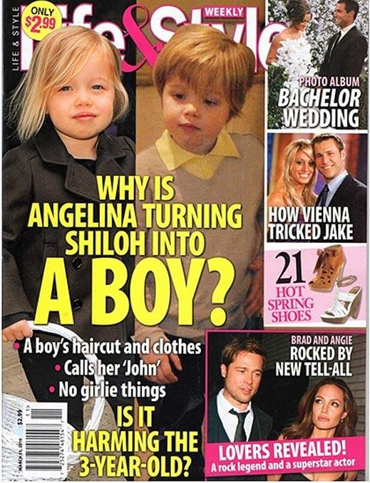 Дъщерята на Анджелина и Брад прилича на момче