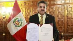 Временният президент на Перу подаде оставка