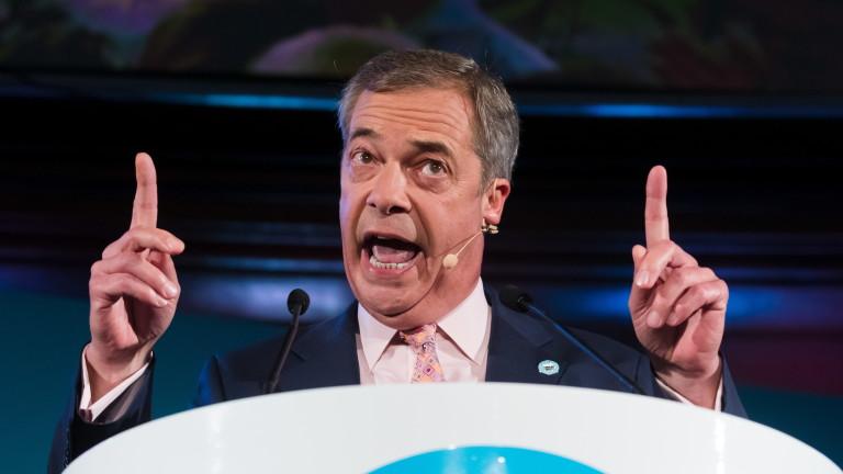 """Найджъл Фараж призова """"чудовищният"""" ЕС да бъде унищожен"""