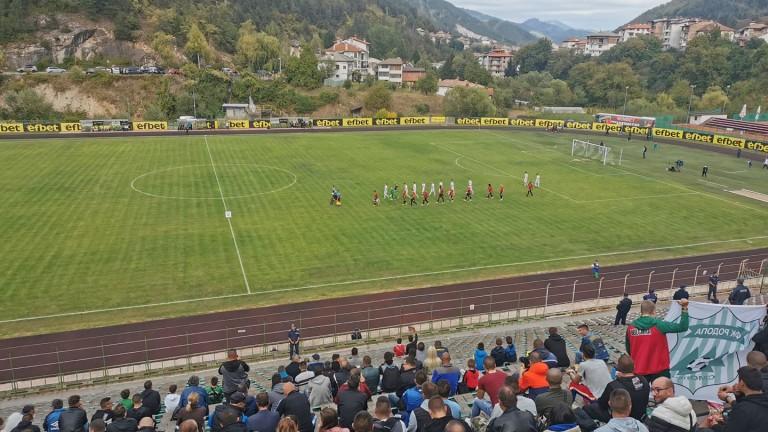 Родопа (Смолян) - Локомотив (Пловдив) 0:4 (Развой на срещата по минути)