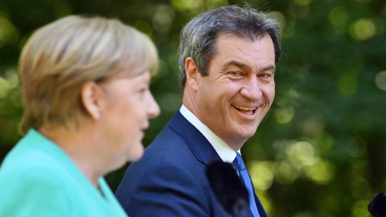 Ангела Меркел, посетила водещ кандидат за неиннаследник, когато се оттегли