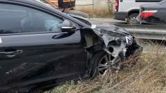 Банда обирджии се сблъска с три полицейски коли в София