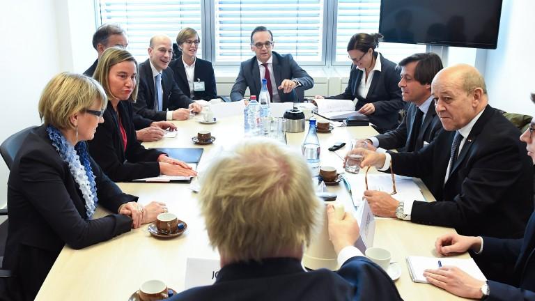 ЕС подкрепи ударите на Запада срещу силите на Асад