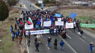 Банско блокира Е79, природозащитници на протест пред МС