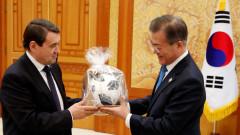 Южнокорейският президент подкрепи Русия в зимните игри