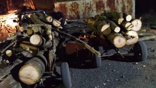 В Ямбол конфискуваха две каруци с краден дървен материал