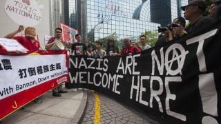 """Протест в Хонконг """"посрещна"""" екссъветник на Тръмп"""