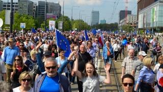 Голям протест в Полша срещу популисткото правителство
