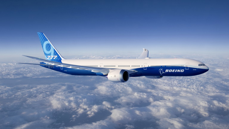 """""""Боинг"""" планира първия полет с 777X за четвъртък"""
