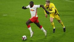 РБ Лайпциг - Борусия (Дортмунд) 1:3, голове на Джейдън Санчо и Ерлинг Халанд за гостите