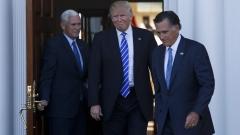 Тръмп доволен от срещата с Мит Ромни
