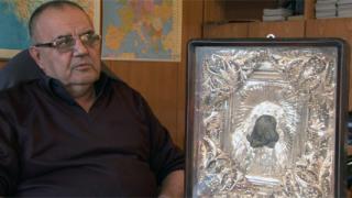 НИМ получи икона, подарена на кап. Петко Войвода от руския император