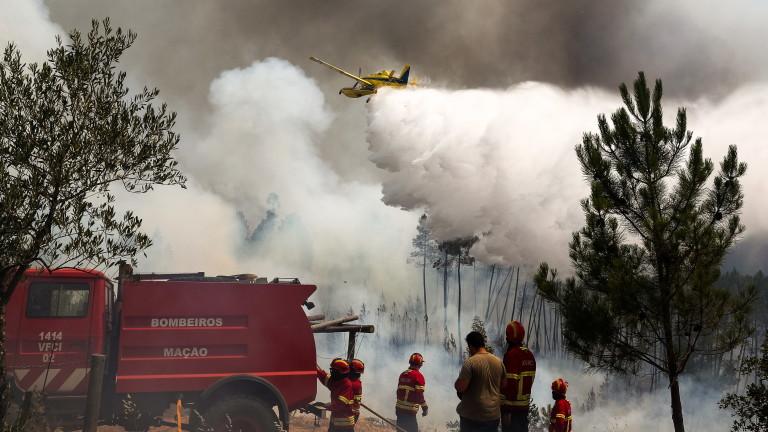 Над 30 души са ранени от пожарите в Португалия. Повече