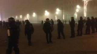 Сълзотворен газ в Будапеща
