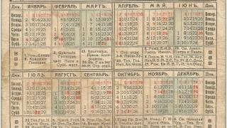 Уникално! Календар от 1917 г. съвпада с този от 2017 г.