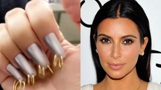 Ким Кардашиян с пиърсинг на ноктите