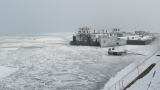 Река Дунав замръзна при Русе, няма бедстващи кораби