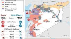 """Руските въздушни удари в Сирия все по-рядко насочени срещу """"Ислямска държава"""""""