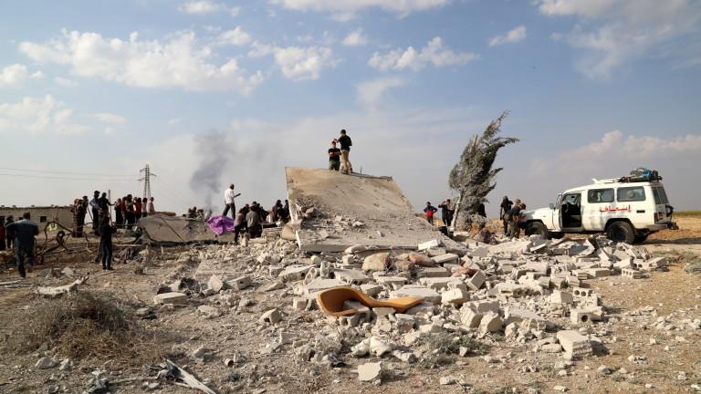 Ранените и бойците от водените от кюрдите Сирийски демократични сили