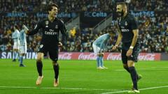 """Реал полетя на """"Балаидос"""", вкара четири гола, но запълни и последните две места в лазарета си"""