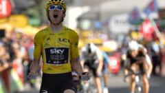 """Герант Томас триумфира в """"кралския"""" етап на """"Тур дьо Франс"""""""