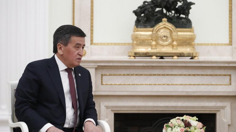 Президентът на Киргизстан готов с оставката, но след възстановяване на реда в страната