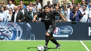 Диего Марадона отново се докосна до световната купа (ВИДЕО)