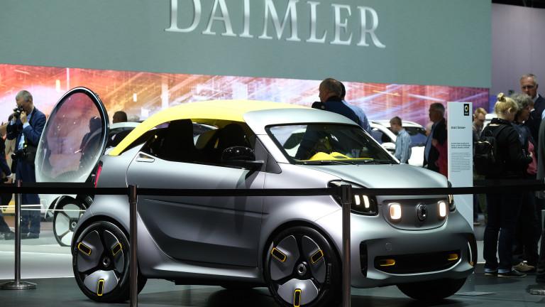 Mercedes започва партньорство с Geely за производство на електрически смартове