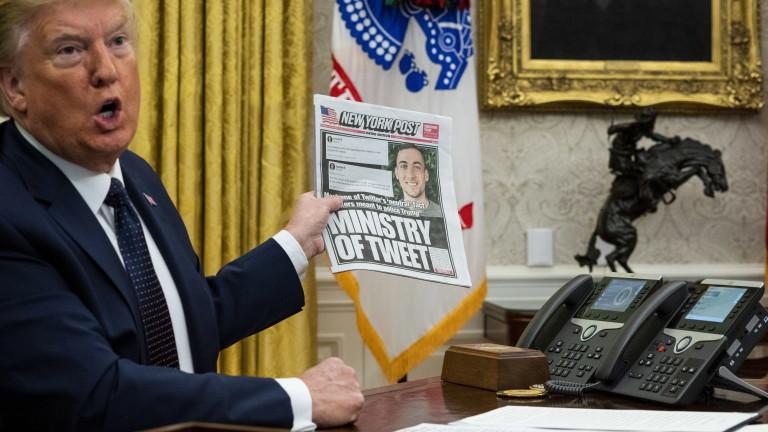 Ръководството на американската компания Twitterопределя указа на американския президентДоналд Тръмп