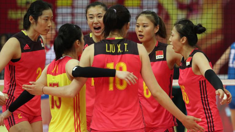 Китай с трета победа на световния волейболен турнир в Япония