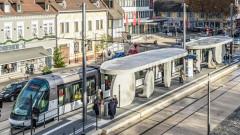 Трамвайната спирка между Германия и Франция