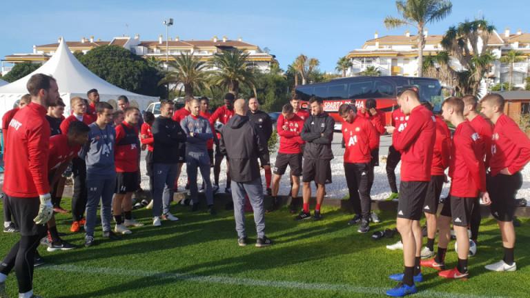 ЦСКА ще удължи лагера си в Испания. Отборът ще остане