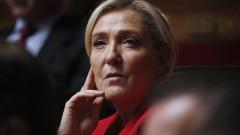 Льо Пен подкрепи Макрон срещу Ердоган