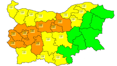Жълт и оранжев код за обилни снеговалежи в събота