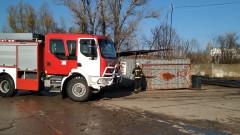 Пожар избухна в пункт за вторични суровини в Русе
