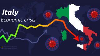 Италия с най-голям срив на икономиката от Втората световна война