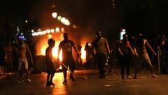 8 задържани при сблъсъците в Солун