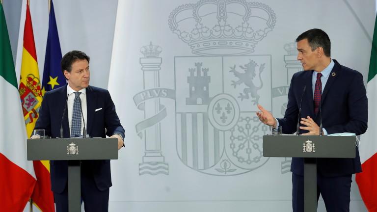 Италия и Испания заедно ще се опитат да убедят пестеливите