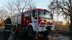 """Видимостта на АМ """"Тракия"""" край Ихтиман е намалена заради пожар"""
