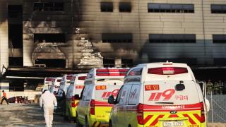 Най-малко 25 загинали при пожар на строителен обект в Южна Корея