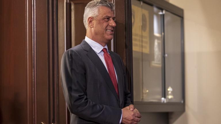 За първи път президентът на Косово Хашим Тачи се яви