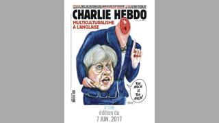 """""""Шарли ебдо"""" """"отряза"""" главата на Тереза Мей  - """"Мултикултурализъм по британски"""""""