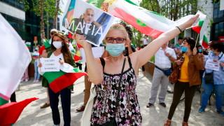 Българите в Брюксел продължават своите протести с искане за оставка на кабинета