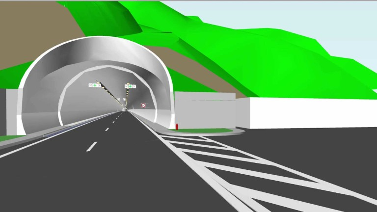 3D графика на бъдещия тунел