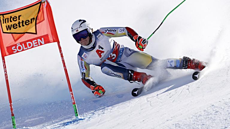 Норвежецът Лукас Бротен спечели гигантския слалом в Зьолден